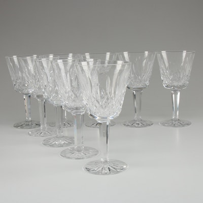 """Waterford Crystal """"Lismore"""" Claret Wine Glasses, Late 20th Century"""
