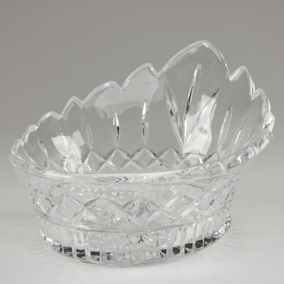 Crown Shaped Cut Glass Bowl