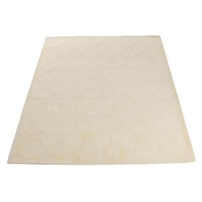 Modernist Style Hand-Tufted Indian Sculpted Wool Area Rug