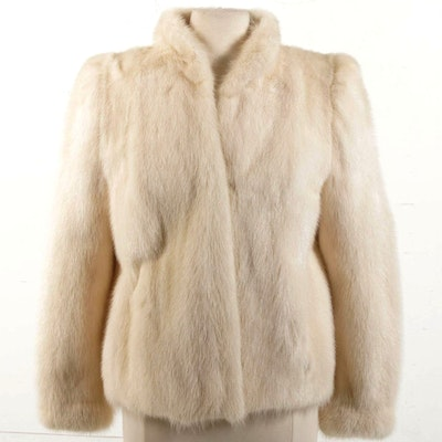 Glacial White Mink Fur Jacket