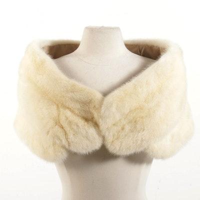 Tourmaline Mink Fur Shrug Designed by Arthur Stevens, Vintage