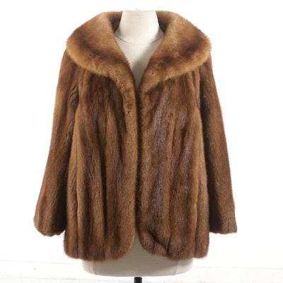 Graf's Exclusive Furs Golden Brown Mink Jacket