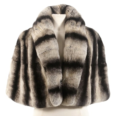 Chinchilla Dyed Rex Rabbit Fur Capelet