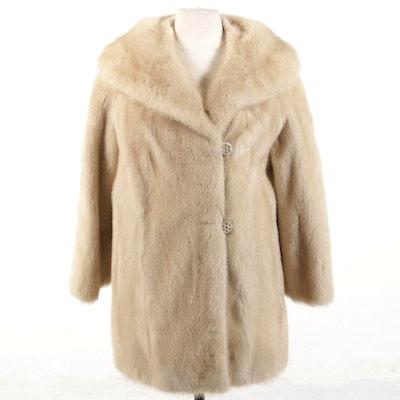 Frederick & Nelson Tourmaline Mink Fur Stroller Jacket