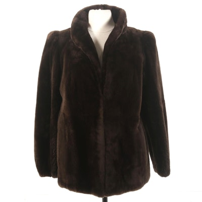 Frederick & Nelson Plucked and Sheared Beaver Fur Jacket