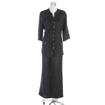 MICHAEL Michael Kors Safari Inspired Navy Linen Pant Set