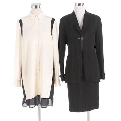 Charles Chang-Lima Skirt Suit and Vince Shirt Dress