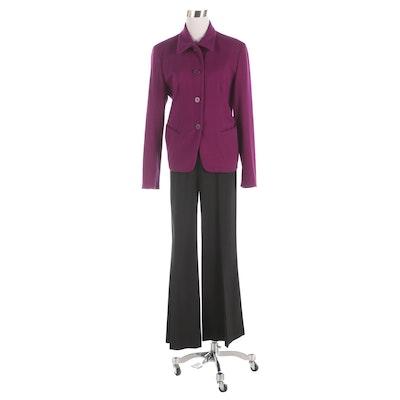 Donna Karan Signature Jacket and Charles Nolan New York Wool Blend Pants
