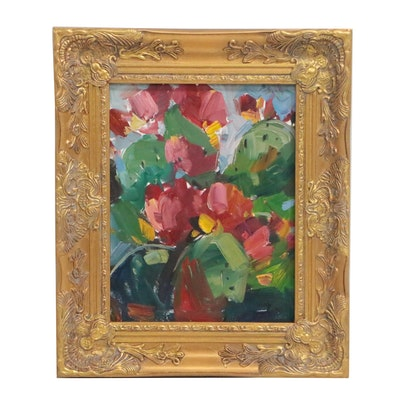"Jose Trujillo Oil Painting ""Prickly Pears"""