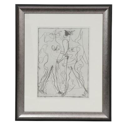 """Georges Braque Half-Tone Print for """"Derrière le Miroir"""""""