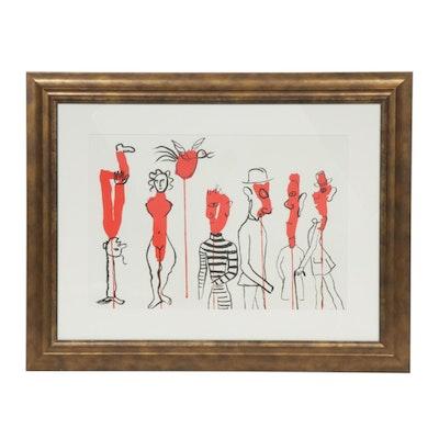 """Alexander Calder Double Page Color Lithograph for """"Derrière le Miroir"""""""