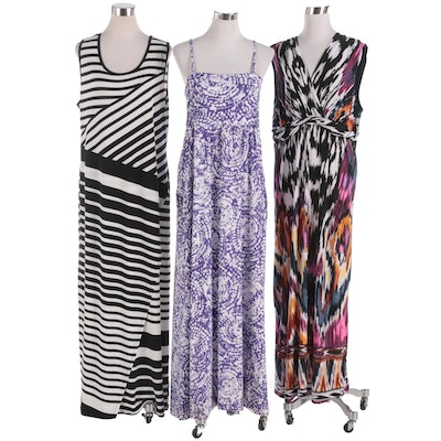 Chico's Brand Printed Sleeveless Maxi Dresses