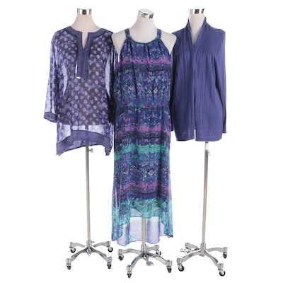 Chico's Dress, Cardigan and Blouse