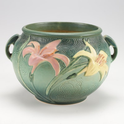 "Roseville Pottery ""Zephyr Lily"" Jardiniere, Mid-Century"