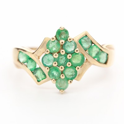 10k Yellow Gold Emerald Ring