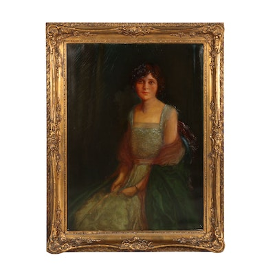 "Paul Jones Monumental Oil Portrait ""Miss O."", 1921"