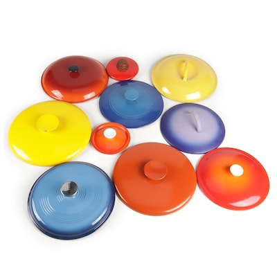 Enamelled Metal Pan Lids