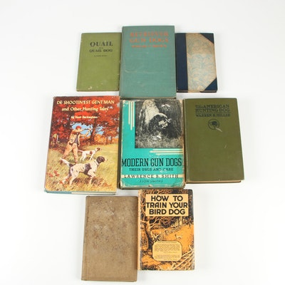 "Hunting Books including 1936 Signed First Edition ""Modern Gun Dogs"" by Lon Smith"