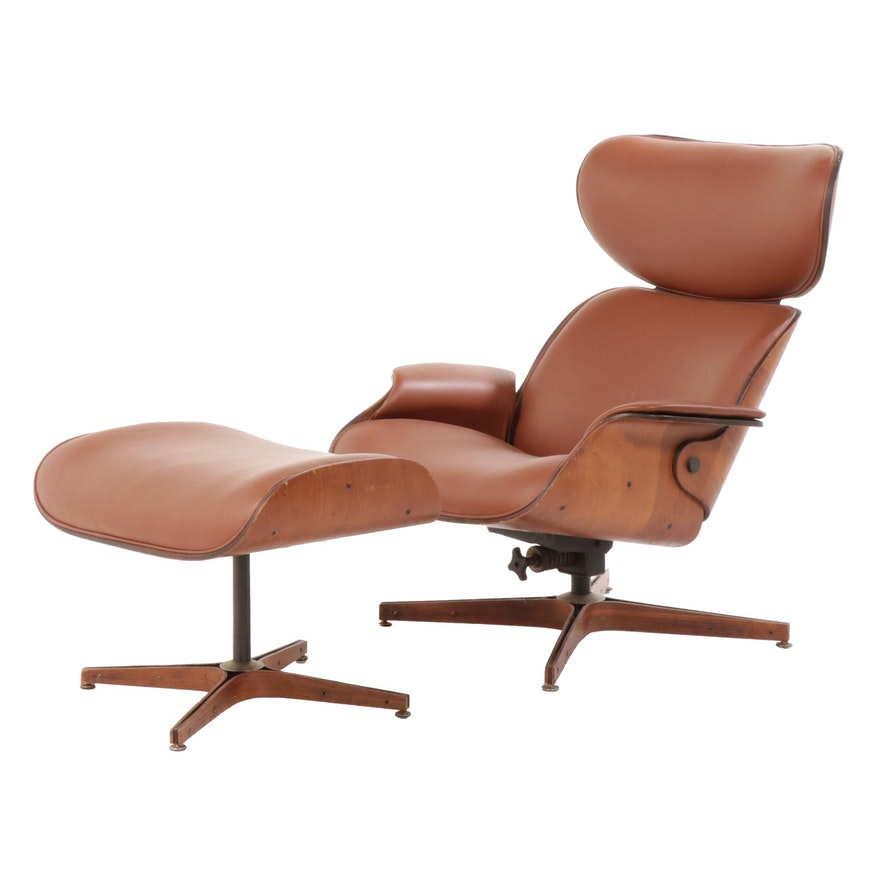 Fantastic George Mulhauser For Plycraft Lounge Chair Mr Chair And Ottoman Mid Century Ibusinesslaw Wood Chair Design Ideas Ibusinesslaworg