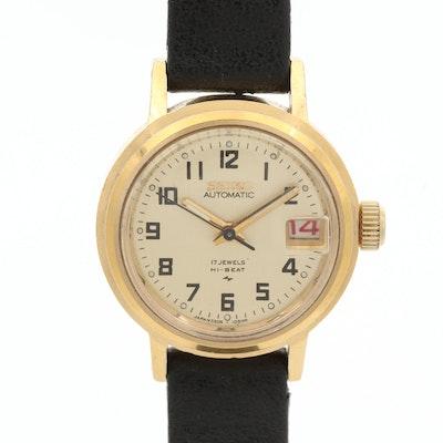 Vintage Seiko 2205-0599 Gold Tone Automatic Wristwatch