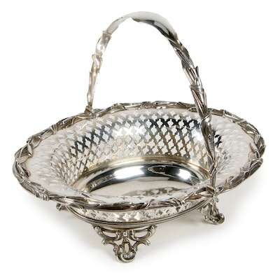 William Forbes for Ball, Black & Co. Coin Silver Cake Basket, Mid-19th Century