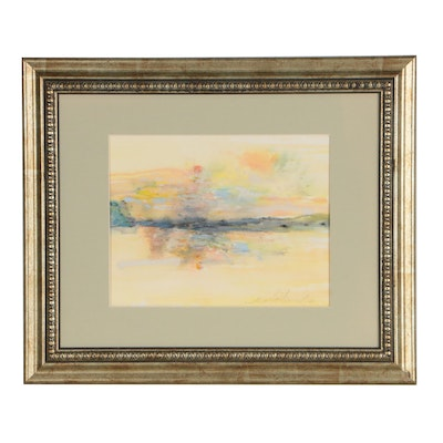 Mark Whitmarsh Abstract Pastel and Watercolor Sketch