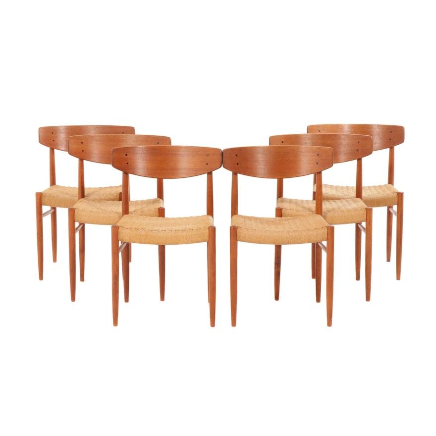 Fine Six Farstrup Danish Modern Teak Dining Chairs With Rattan Seats 1960S Andrewgaddart Wooden Chair Designs For Living Room Andrewgaddartcom