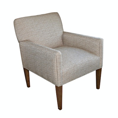 Woven Upholstered Armchair, Contemporary