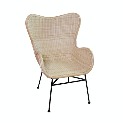 New Pacific Direct Natural Rattan Armchair, Contemporary
