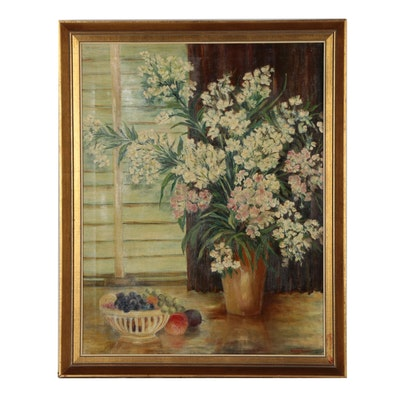 Berenice Newman 1935 Still Life Oil Painting