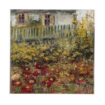 "Garncarek Aleksander Oil Painting ""Garden"""