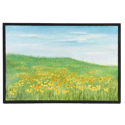 Farshad Lanjani Landscape Impasto Oil Painting