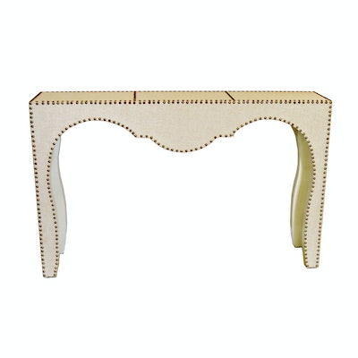 "Uttermost ""Lucienne"" Linen Console Table, Contemporary"