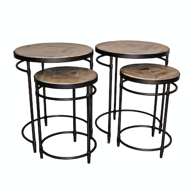 "Pair of Hooker Furniture ""Saint Armand"" Nesting Side Tables, Contemporary"