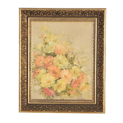 Robert Dziubaniuk Floral Still Life Oil Painting