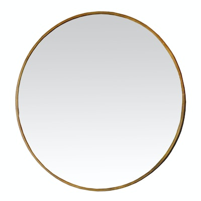 Uttermost Smoked Glass Round Wall Mirror, Contemporary