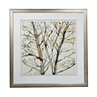 "Lithograph ""Transparent Branches I"""