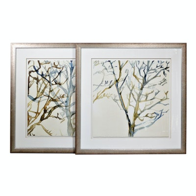"Lithograph ""Transparent Branches III and IV"""