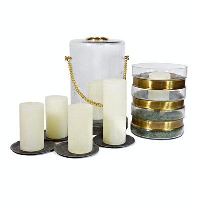 Hurricane Candle Holders and Pillar Candles