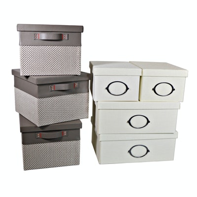 Closet Storage Boxes and Faux Leather/Fabric Boxes