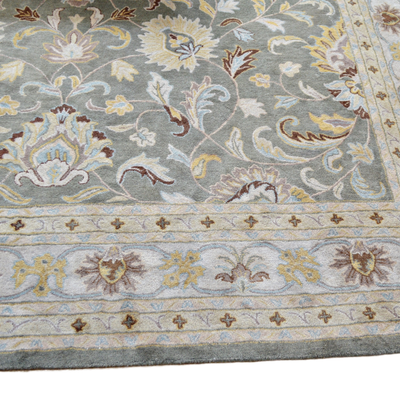 Tufted Indo-Persian Style Wool Area Rug