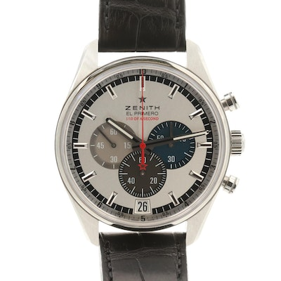 Zenith El Primero Striking 10th Stainless Steel Automatic Chronograph Wristwatch