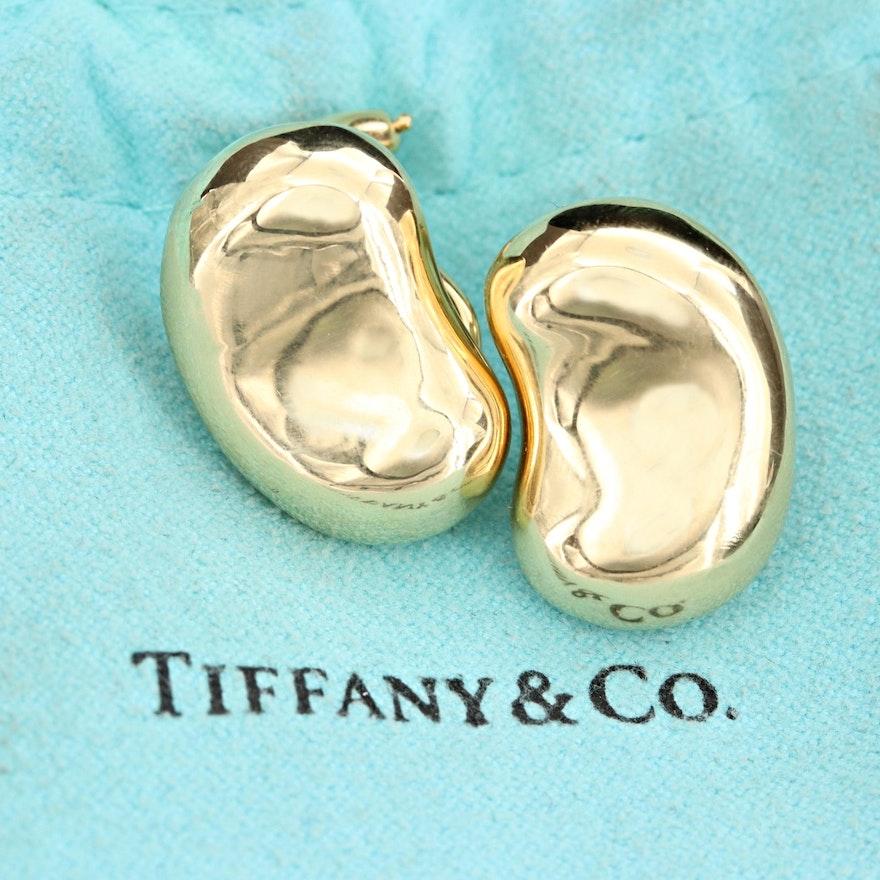 "Elsa Peretti for Tiffany & Co. ""Bean Design"" 18K Yellow Gold Earrings"