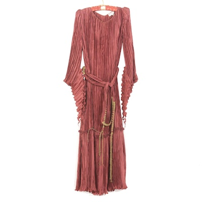 Vintage Mary McFadden Micro Pleated Dress
