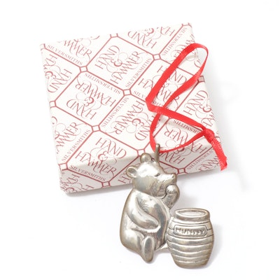 Hand & Hammer Silversmiths Sterling Silver Winnie the Pooh Ornament