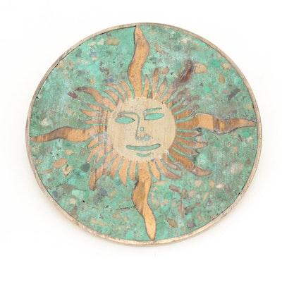 Taxco Sterling Silver Chip Eilat Sun Enhancer Brooch