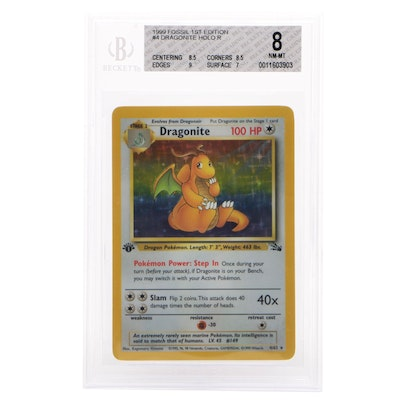 1999 Fossil 1st Edition #4 Dragonite Holo R Professional Graded Pokémon Card