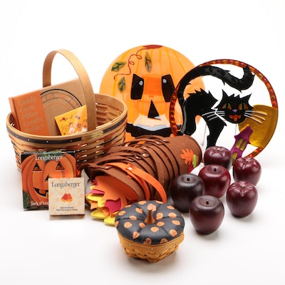 Halloween, Fall, and Thanksgiving Décor and Tableware Including Longaberger