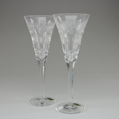 """Waterford Crystal Millennium Collection """"Prosperity"""" Toasting Flutes"""