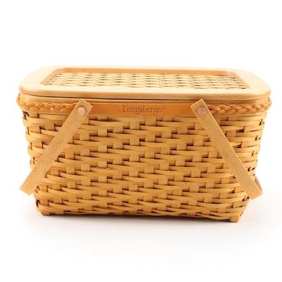 Longaberger Maple Founder's Market Basket with Interior Divider, 2000